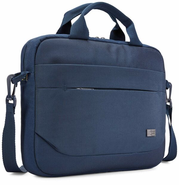 "GEANTA CASE LOGIC, pt. notebook de max. 11.6 inch, 1 compartiment, buzunar frontal x 2, waterproof, poliester, albastru, ""ADVA-111 DARK BLUE"""