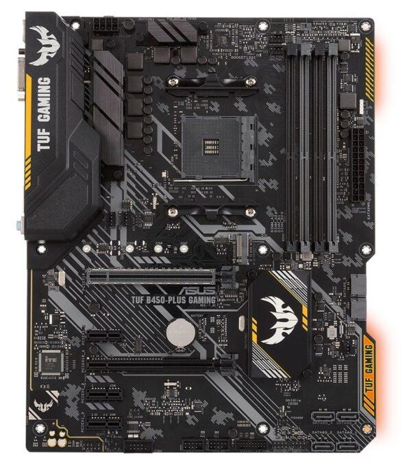 "PLACA de BAZA ASUS B450-PLUS GAMING, skt AM4, AMD B450, ATX, slot RAM 4 x DDR4, max 64 GB, 6x S-ATA 3, 1x M.2, 3x PCI-E, PCI-E3.0x16 x 1, PCI-E2.0x16 x 1, LAN 1000 Mbps, HDMI, DVI, 7.1, ""B450-PLUS GAMING"""