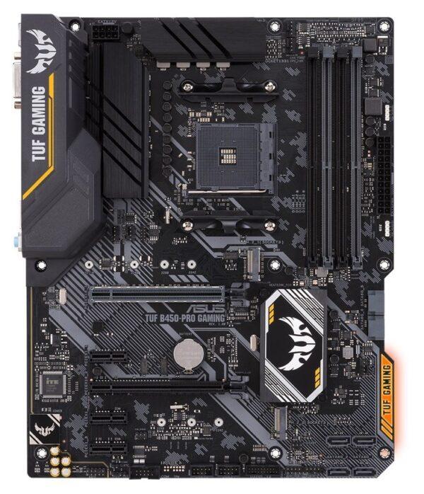 """PLACA de BAZA ASUS B450-PRO GAMING, skt AM4, AMD B450, ATX, slot RAM 4 x DDR4, max 64 GB, 6x S-ATA 3, 2x M.2, 3x PCI-E, PCI-E3.0x16 x 1, PCI-E2.0x4 x 1, LAN 1000 Mbps, HDMI, DVI, 7.1, """"B450-PRO GAMING"""""""