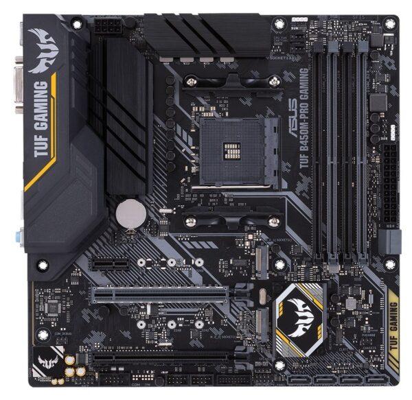 """PLACA de BAZA ASUS B450M-PRO GAMING, skt AM4, AMD B450, mATX, slot RAM 4 x DDR4, max 64 GB, 6x S-ATA 3, 2x M.2, 1x PCI-E, PCI-E3.0x16 x 1, PCI-E2.0x4 x 1, LAN 1000 Mbps, HDMI, DVI, 7.1, """"B450M-PRO GAMING"""""""
