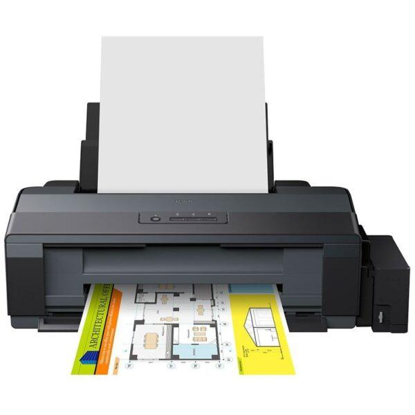 "Imprimanta CISS Color Epson L1300, A3, Functii: Impr., Viteza de Printare Monocrom: 15 ppm, Viteza de printare color: 5.5 ppm, Conectivitate:USB, Duplex:nu, ADF:Nu(incl.TV 21RON) ""C11CD81401"""