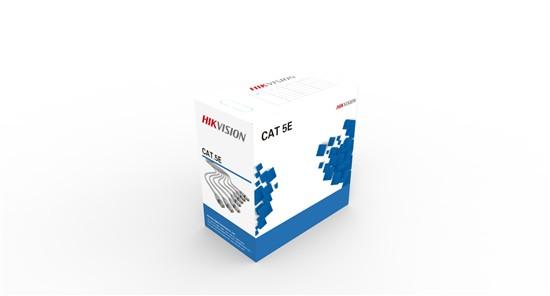 """CABLU UTP HIKVISION, cat. 5E, 305 metri, Diametru fir: 0.45mm, OFC, CMX, CPR, gri, """"DS-1LN5E-E/E"""""""