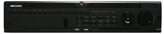 "Hikvision NVR DS-9632NI-I8, 320Mbps, Recording resolution:12MP/8MP/6MP/5MP/4 MP/3MP/1080p/UXGA/720p/VGA/4CIF/DCIF/2CIF/CIF/QCIF;Deco dingformat:H.265/H.264/MPEG4, 8 SATA Interfaces, alarm I/O: 16/4, 2Ucase, 19″ ""DS-9632NI-I8"""