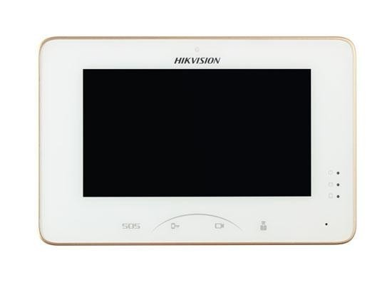 """Monitor videointerfon color Hikvision DS-KH8300-T, 7-InchColorfulTFTLCD ,Capacitive Touch Screen, Touch Key, Display Resolution:1024×600,10/100Mbps Self-Adaptive Ethernet, Alarm Input 8-ch AlarmInputSensor, """"DS-KH8300-T"""""""