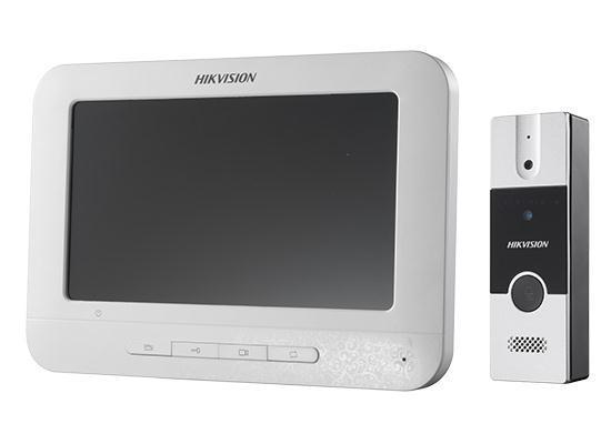 """Set videointerfon color Hikvision DS-KIS202; montaj pe 4fire; setulesteformat din post exterior DS-KB2411-IM si monitorinteriorDS- KH2220;Descriere post exterior DS-KB2411-IM : Post video interfon exterio Hikvision DS-KB2411-IM; """"DS-KIS202"""""""