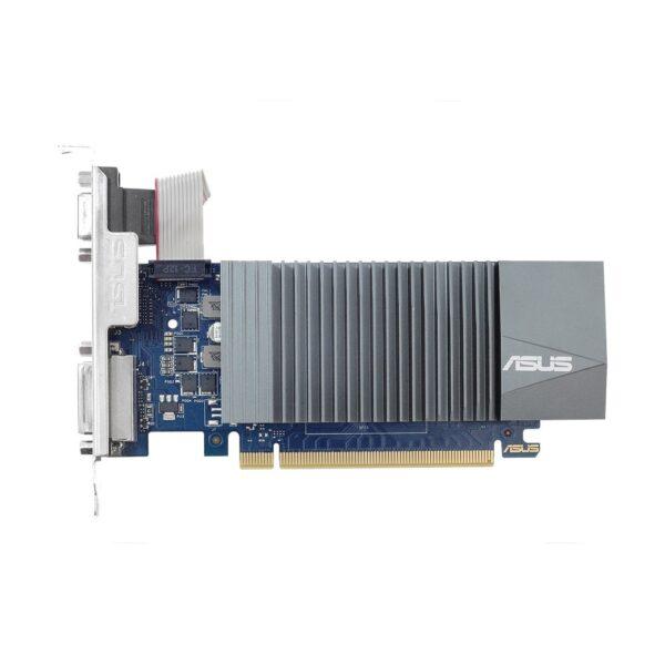 "PLACA VIDEO ASUS NVIDIA GeForce GT 710, 2 GB GDDR5 64 biti, PCI Express 2.0 x 16, HDMI, DVI, VGA, sistem racire aer pasiv, ""GT710-SL-2GD5"""