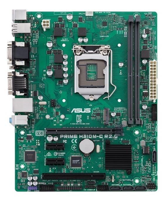 """Placa de baza Asus Socket LGA1151, PRIME H310M-C R2.0/CSM, Intel H310, 2x DDR4, 2 x DIMM, Max. 32GB, 2666/2400/2133 MHz, mATX Form Factor """"H310M-C R2.0/CSM"""""""