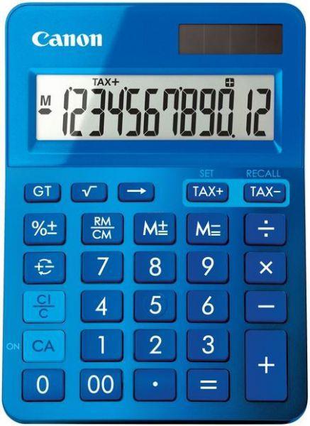 "Calculator de birou CANON, LS-123K BL, ecran 12 digiti, alimentare solara si baterie, display LCD, functie business, tax si conversie moneda, albastru, include TV 0.1 lei ,""BE9490B001AA"""
