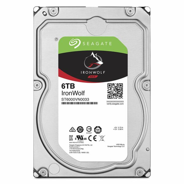"HDD SEAGATE 6 TB, IronWolf, 7.200 rpm, buffer 256 MB, pt. NAS, ""ST6000VN0033"""
