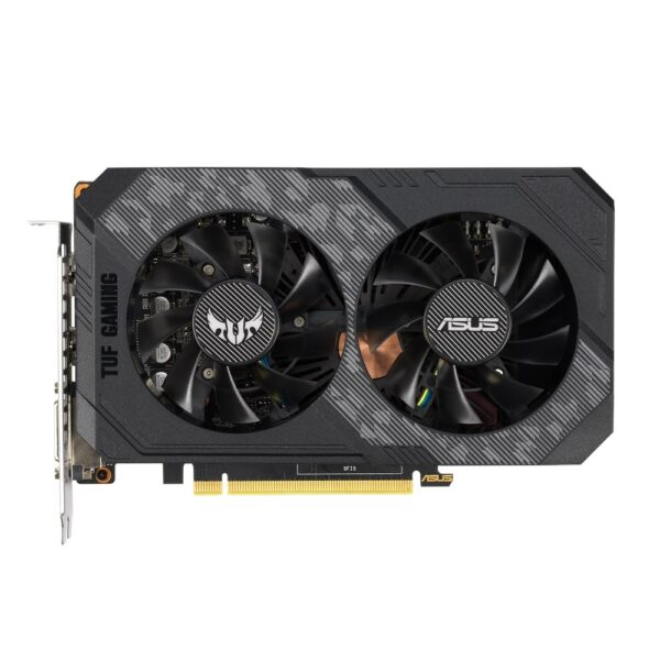 "PLACA VIDEO ASUS NVIDIA TUF Gaming GeFOrce GTX 1660 OC, 6 GB GDDR5 192 biti, PCI Express 3.0 x 16, HDMI, DVI, Display Port, sistem racire aer activ, ""TUF-GTX1660-O6G"""