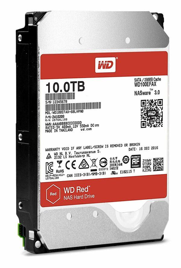 "HDD WD, 10TB 5400rpm 256MB S-ATA3, pt. NAS, RED ""100EFAX"" WD ""WD100EFAX"""
