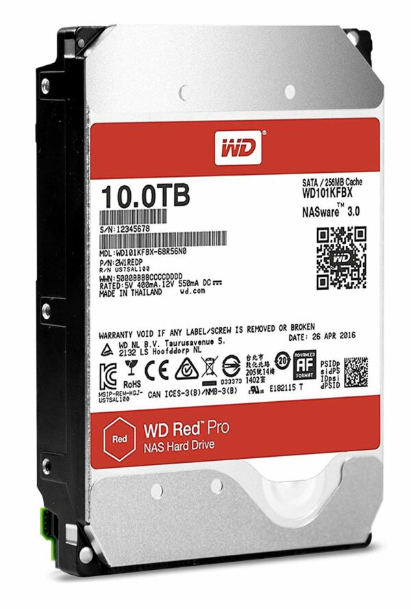"HDD WD, 10TB, 7200rpm, 256MB, S-ATA3, pt. NAS, RED PRO, ""WD101KFBX"""