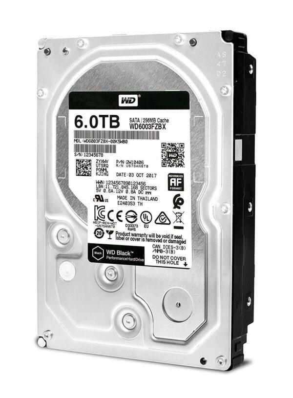 """HDD WD 6 TB, Black, 7.200 rpm, buffer 256 MB, pt. desktop PC, """"WD6003FZBX"""""""