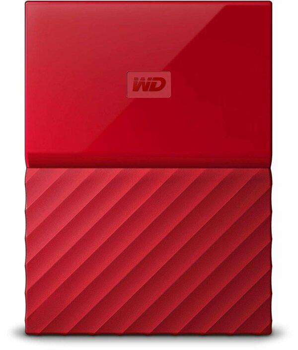 """HDD extern WD, 4TB, My Passport, 2,5″ USB 3.0, rosu """"WDBYFT0040BRD-WESN"""""""