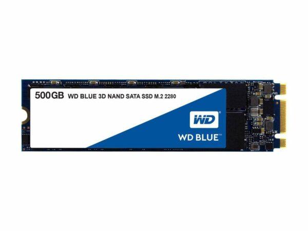 "SSD WD, Blue, 500 GB, M.2, S-ATA 3, 3D Nand, R/W: 560/530 MB/s, ""WDS500G2B0B"""