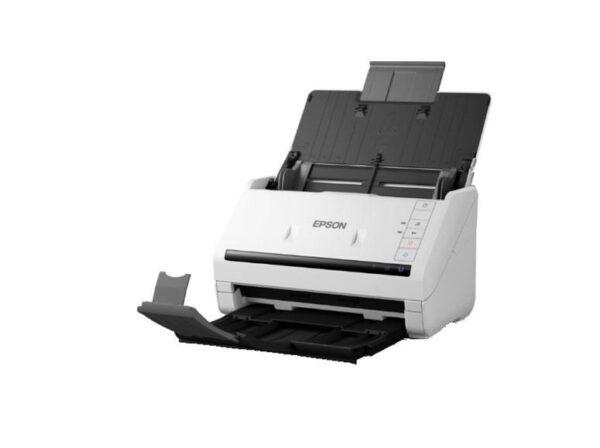 """SCANNER EPSON DS-770, dimensiune A4, tip sheetfed, viteza scanare: 45ppm, rezolutie optica 600x600dpi, ADF 100 pagini, duplex, Fiabilitate ciclu de lucru zilnic 5.000 Pagini, Conexiuni USB 3.0, optional retea. """"B11B248401"""""""