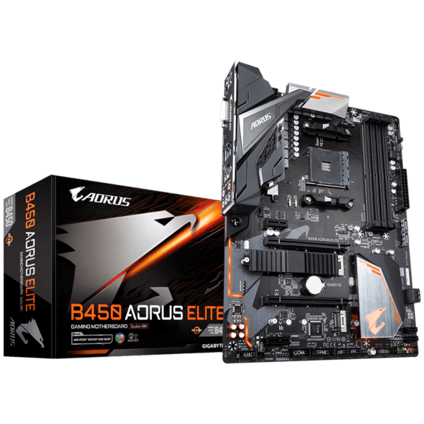 "Placa de baza Gigabyte Socket AM4, B450 AORUS ELITE, AMD B450, 4x DDR4 2933/2667/2400/2133 MHz memory modules, ATX ""B450 AORUS ELITE"""