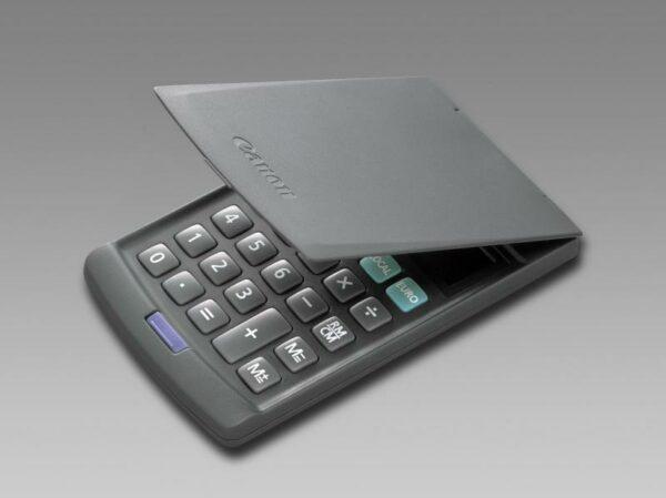 "Calculator de birou CANON, 24 taste, ecran 8 digiti, alimentare solara si baterie, display LCD, conversie moneda, gri, include TV 0.1 lei ,""BEE11-5800210″"
