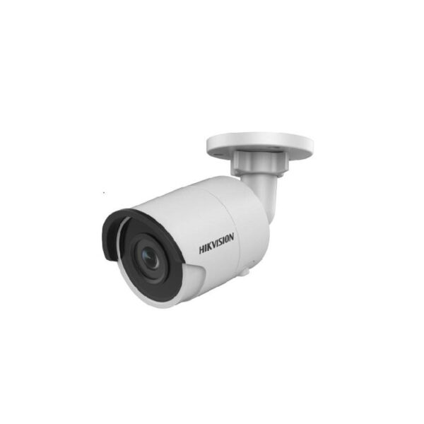 "Camera de supraveghere Hikvision IP Bullet, DS-2CD2083G0-I(2.8mm); 8MP; Fixed lens: 2.8mm; 1/2.5″ Progressive Scan CMOS; H.265+/H.265/H.264 +/H.264/MJPEG; 3 VCA functions; 3 streams; 3D DNR; ICR; ""DS-2CD2083G0-I 2.8"""