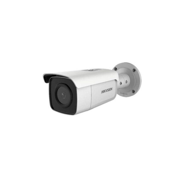 "CAMERA IP HIKVISION, bullet, pt. exterior, dist. IR 50 m, tip lentila fixa 2.8 mm, 4 Mpx, cu fir, PoE, carcasa metal, slot SD card, ""DS-2CD2T46G1-4I2.8"""