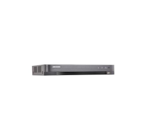 "DVR Hikvision TurboHD 4 canale DS-7204HUHI-K1; 5MP; 4TurboHD/AHD/Analoginterface input, 4-ch video and 4-ch audio input, 1SATAinterface,H.265/H.265+ compression, alarm I/O: 4/1, supportCVBSoutput ""DS-7204HUHI-K1"""