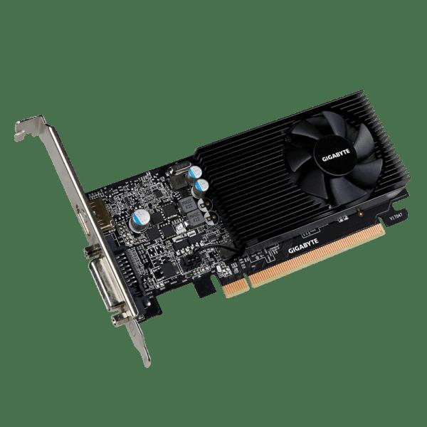 "PLACA VIDEO GIGABYTE NVIDIA GeForce GT 1030 Low Profile 2G, 2 GB GDDR5 64 biti, PCI Express 3.0 x 8, HDMI, DVI, sistem racire aer activ, ""N1030D5-2GL"""