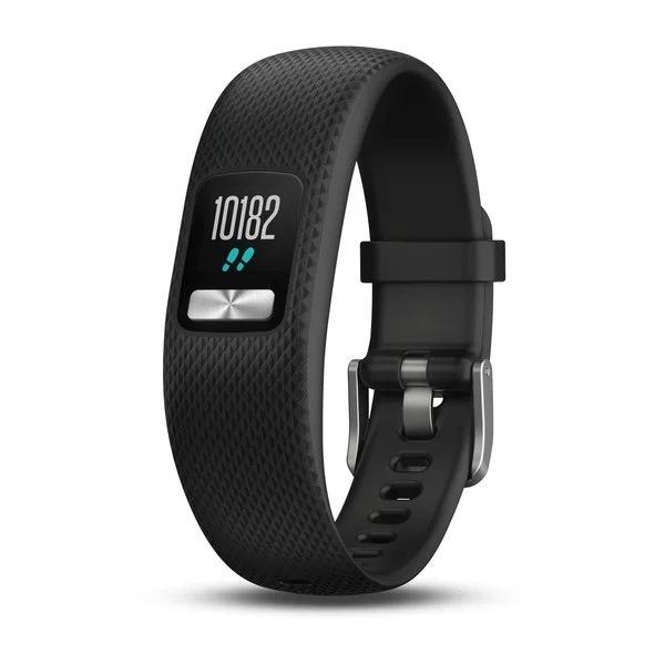 """BRATARA electronica fitness GARMIN Vivofit 4, afisaj digital LCD pentru ora si data, numarul de pasi efectuati, distanta parcursa, caloriile consumate, obiectivul zilnic de atins """"010-01847-10"""""""