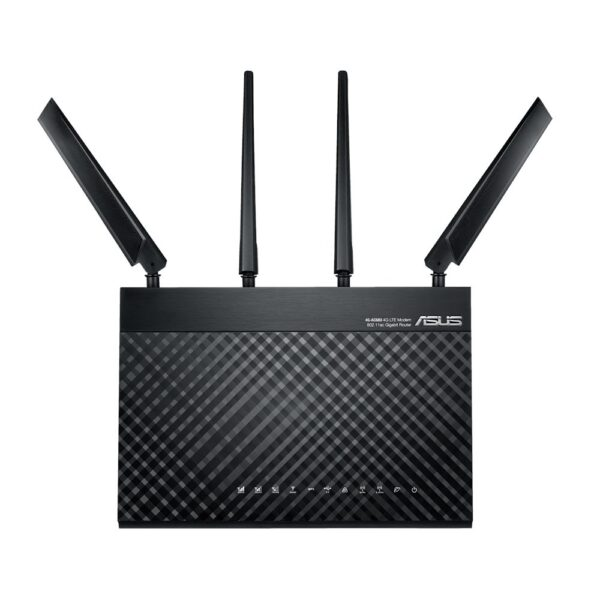 "Router Asus AC1900 Dual-Band LTE Wi-Fi, 4G-AC68U; IEEE 802.11a, IEEE 802.11b, IEEE 802.11g, IEEE 802.11n, IEEE 802.11ac, IPv4, IPv6; AC1900 ultimate AC performance: 600+1300 Mbps; 2* External antenna, 1* Internal antenna; 2* Detachable""4G-AC68U"""