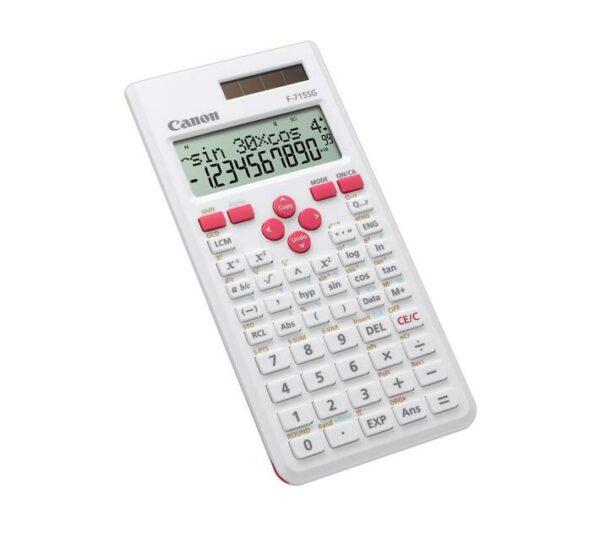 "Calculator birou Canon F715SGBK, 16 digiti, display LCD 2 linii, alimentare solara si baterie, 250 functii, culoare: alb + magenta. ""5730B002AB"""