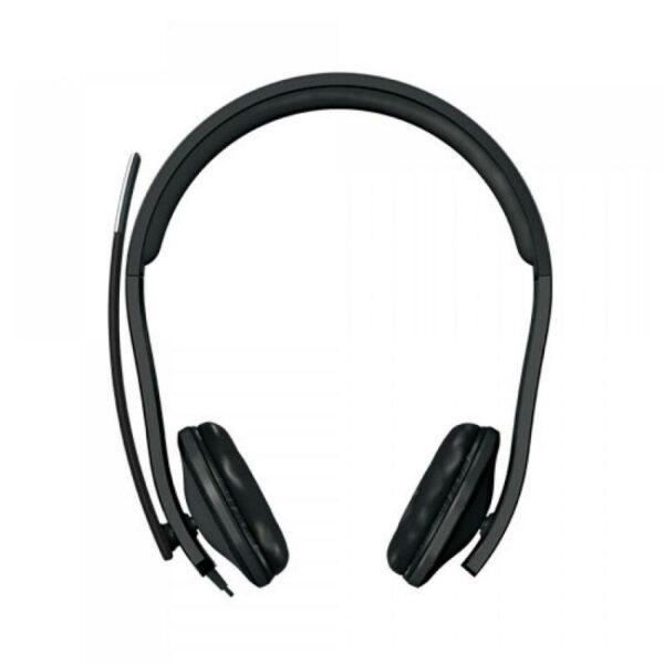 "CASTI Microsoft, ""LifeChat LX-6000"", cu fir, standard, utilizare multimedia, call center, microfon pe brat, conectare prin USB 2.0, negru, ""7XF-00001"", (include TV 0.75 lei)"