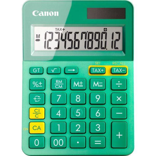 "Calculator birou Canon LS-123K, 12 digits, 29 keys, dual power , M+, M-,RM/CM, Verde.""9490B015AA"""