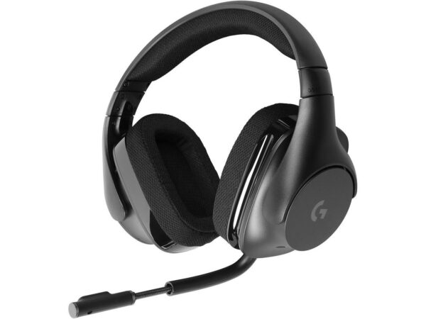 "CASTI Logitech, ""G533"", wireless, cu fir, gaming, utilizare multimedia, microfon pe brat, conectare prin 2.4 GHz (WiFi), USB 2.0, negru, ""981-000634"", (include TV 0.75 lei)"