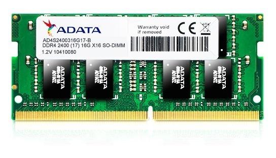 "Memorie RAM notebook Adata, SODIMM, DDR4, 4GB, 2400MHz, 1.2V ""AD4S2400W4G17-R"""