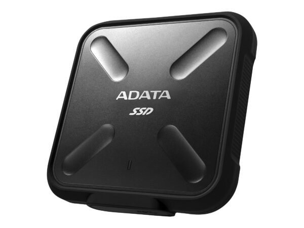 """SSD Extern ADATA SD700, 2.5″, 512GB, USB 3.1, R/W speed: up to 440 MB/s, Dust/Water proof, Military-grade shockproof, Portable-slim and sporty design, Negru """"ASD700-512GU31-CBK"""" (include TV 0.15 lei)"""