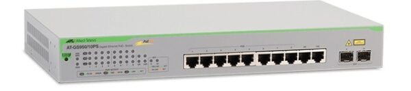 "Switch ALLIED TELESIS GS950 A Gigabit Smart Access PoE+ 8+2 ports , 5 ani garantie prin inregistrare on-line ""AT-GS950/10PS-50"""