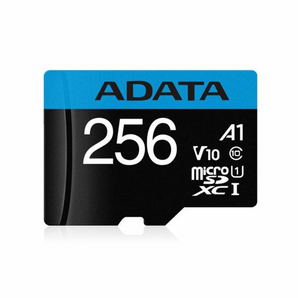 "CARD MicroSD ADATA, 256 GB, MicroSDXC, clasa 10, standard UHS-I U1, ""AUSDX256GUICL10A1-RA1"""