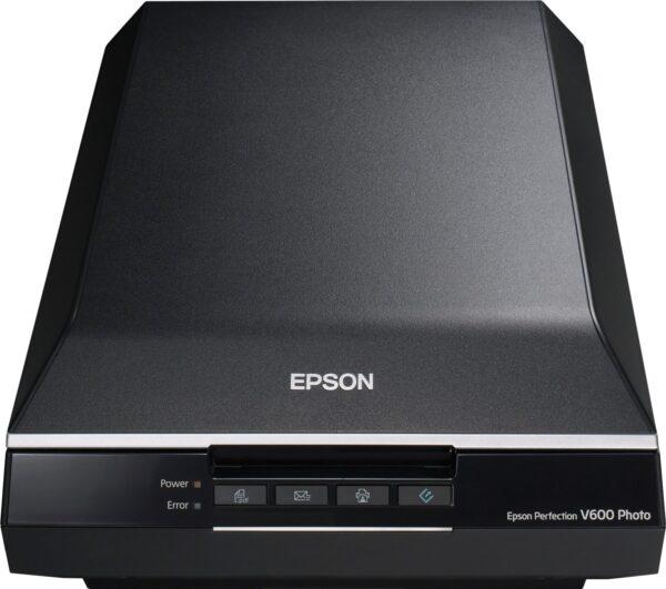 "SCANNER EPSON Perfection V600 Photo, dimensiune A4, tip flatbed, viteza scanare: 25 s/pagina color 600dpi, 11s/pagina alb-negru, rezolutie optica 6400x9600dpi, senzor CCD, scanare film foto, interfata: USB 2.0. ""B11B198033"""