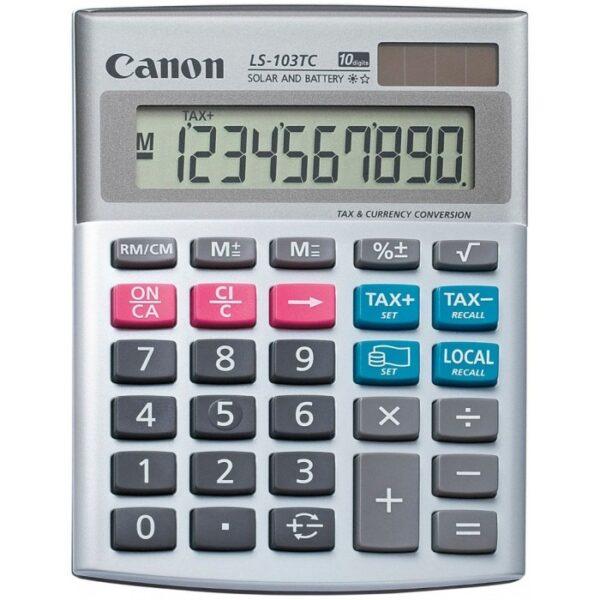"Calculator birou Canon LS-103TC, 10 digiti, display LCD, functie tax si conversie moneda ""BE1535B002AA"""