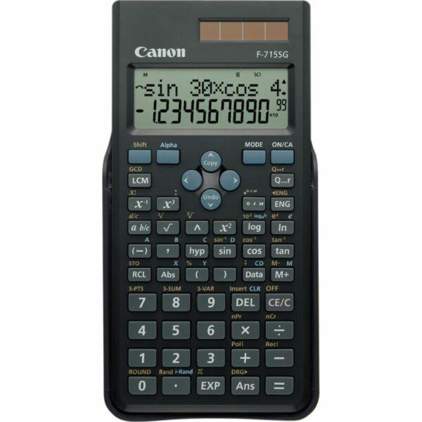 "Calculator de birou CANON, F715SGBK , ecran 16 digiti, alimentare solara si baterie, display LCD, 250 functii, negru, include TV 0.1 lei ,""BE5730B004AA"""