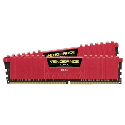 "Memorie RAM DIMM Corsair Vengeance LPX 16GB (2x8GB), DDR4 2400MHz, CL14, 1.2V, red, XMP 2.0, CMK16GX4M2A2400C14R ""CMK16GX4M2A2400C1R"""