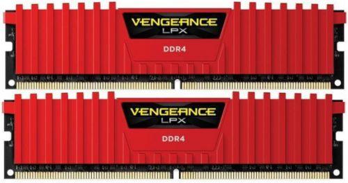 "Memorie RAM DIMM Corsair Vengeance LPX 16GB (2x8GB), DDR4 3000MHz, CL15, 1.35V, red, XMP 2.0, CMK16GX4M2B3000C15R ""CMK16GX4M2B300C15R"""
