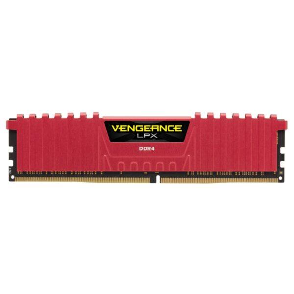 "Memorie RAM DIMM Corsair Vengeance LPX 8GB (1x8GB), DDR4 2400MHz, CL16, 1.2V, red, XMP 2.0 ""CMK8GX4M1A2400C16R"""