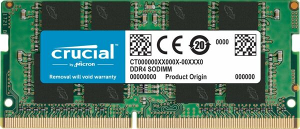 "DDR4, 16GB, 2666 MHz, 260-pin SO DIMM, CL 19, Nominal voltage 1.2 V, Number of modules 1, Chip Organization 2048Mx64 ""CT16G4SFD8266"""