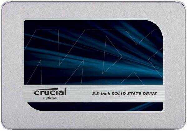 """CRUCIAL MX500 2TB SSD, 2.5# 7mm (with 9.5mm adapter), SATA 6 Gbit/s, Read/Write: 560 MB/s / 510 MB/s, Random Read/Write IOPS 95K/90K """"CT2000MX500SSD1"""""""