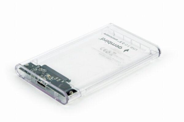 "RACK extern GEMBIRD, extern pt. HDD, 2.5 inch, S-ATA, interfata PC USB 3.0, plastic, alb transparent, ""EE2-U3S9-6"""