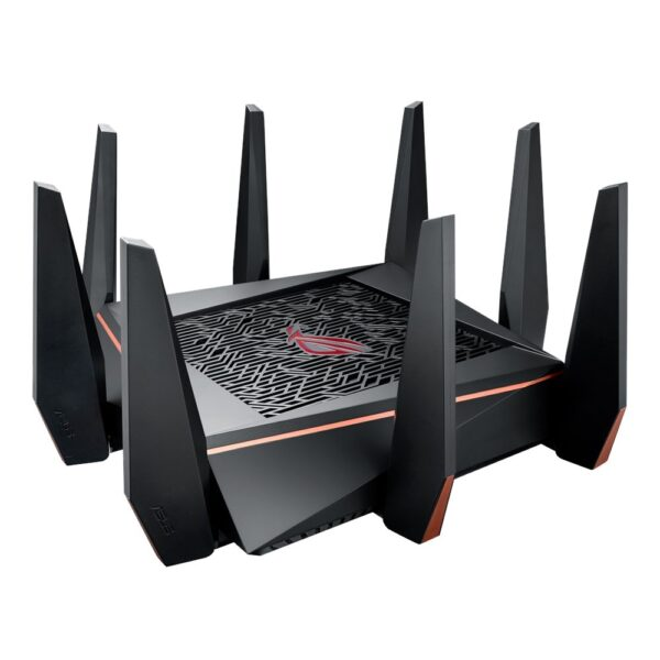 """Asus Tri-band Gaming Router GT-AC5300, 1000+2167+2167 Mbps, IEEE 802.11a, IEEE 802.11b, IEEE 802.11g, IEEE 802.11n, IEEE 802.11ac, IPv4, IPv6, 2.4G Hz, 5 GHz-1, 5 GHz-2, 256 MB Flash, 1024 MB RAM, """"GT-AC5300"""""""