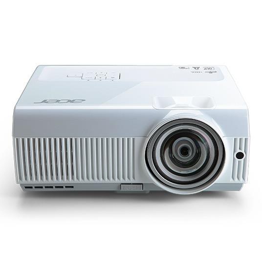 "PROIECTOR ACER S1283e, lampa OSRAM, 3100 lumeni, rezolutie XGA (1024 x 768), contrast 13.000 : 1, VGA x 2, Monitor Out, RS-232, S-video, USB 2.0 Mini-B, mini-jack,boxe, ""MR.JK011.001"""