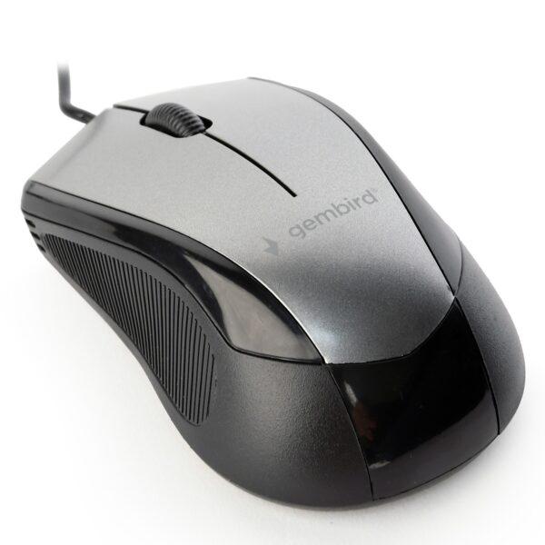 "MOUSE GEMBIRD, PC sau NB, cu fir, USB, optic, 1600 dpi, butoane/scroll 6/1, , negru / gri, ""MUS-6B-01-BG"" (include TV 0.15 lei)"