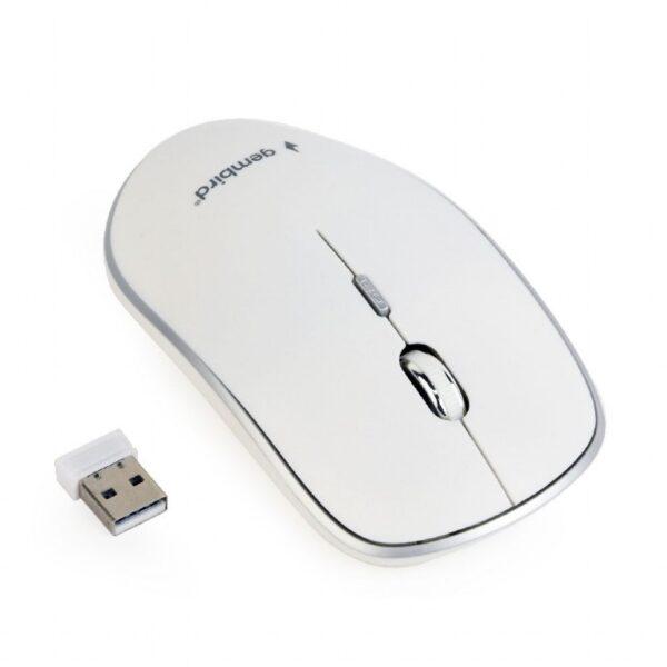 "MOUSE GEMBIRD, PC sau NB, wireless, 2.4GHz, optic, 1600 dpi, butoane/scroll 4/1, , alb, ""MUSW-4B-01-W"" (include TV 0.15 lei)"