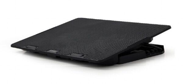 "STAND GEMBIRD notebook 15.6″, sita metal, 2 x fan 12.5cm, inaltime ajustabila pana la 4 grade, black, ""NBS-2F15-02″"